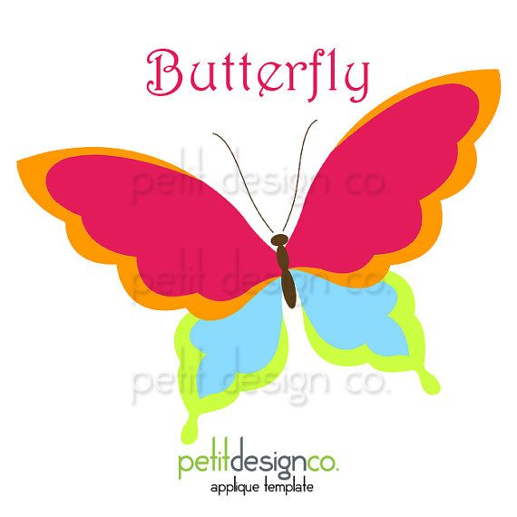 Butterfly Applique Template  Free Shipping by PetitDesignCo, $1.60