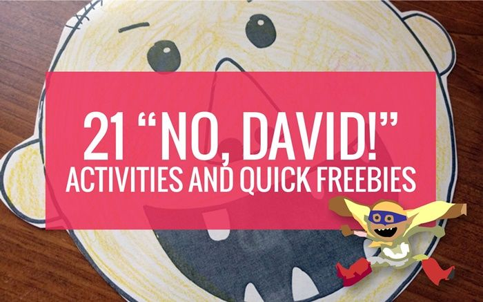 No David by David Shannon is a classic book to read in kindergarten. Here are free No David activities, videos and book ideas listed all in one place.