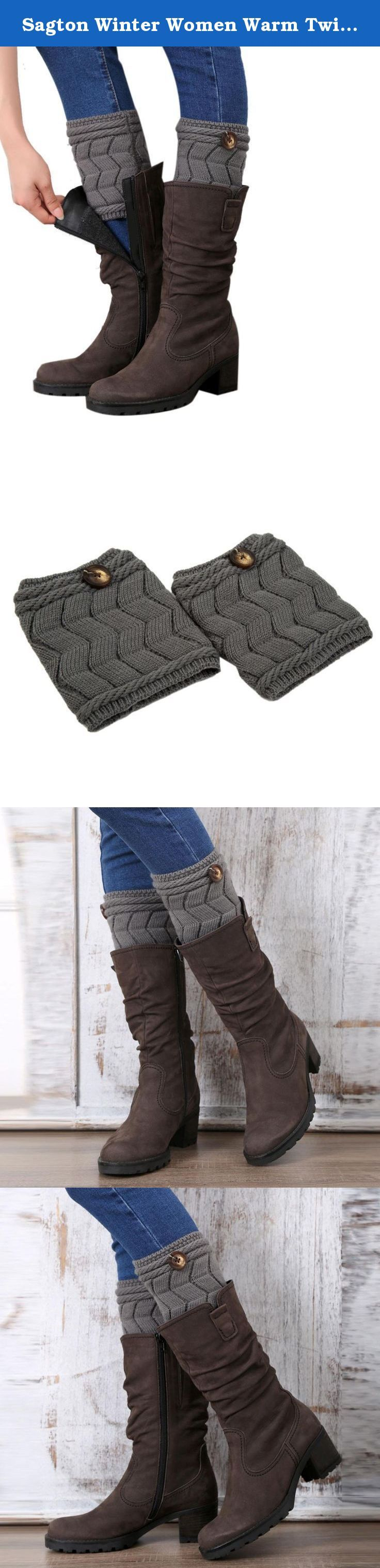 Sagton Winter Women Warm Twisted Buckle Leg Warmers Socks Boot Cover (Gray). Note: 1,Don't worry, most buyers said they got items earlier than estimated time. 2, if you got your items, welcome back to give your precious review, Picture and feedback.Every buyers will apreciate your advice, thanks a lot:)! Feature: 100% new and high quality! Material:Acrylic Fibers Color:Beige,Black,Coffee,Gray,Khaki,White Size:approx 15cm One size fit most,stretchy Soft and fashionable Very comfortable...