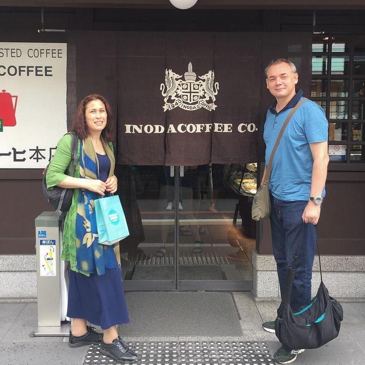 Утро в Киото лучше всего начинать с медитации в кофейной у Иноды что мы и сделали с Гульджан - нашей дорогой гостьей из московского клуба путешествий Михаила Кожухова #кожухов #клубпутешествий #инода #кофе #кофейня #кофекофе #сливкисливки #утровКиото