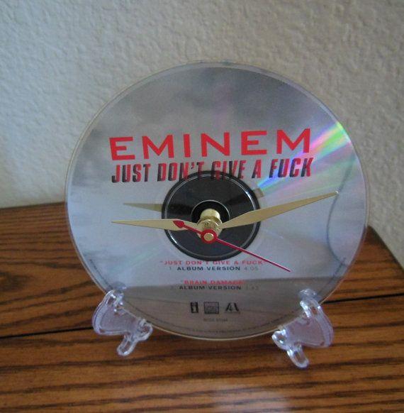 EMINEM CD Desk Clock Just Don't Give A Fuc  by RecordsAndStuff