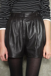 Vintage Renewal '80s Leather Shorts