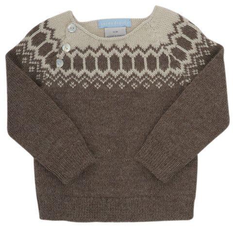 Serendipity baby sweater i blød alpaca - hverdagsluksus hos uldbørn.dk | uldbørn