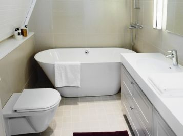 look out for smaller size or compact bathroom suites for decorating a small bathroom successfully