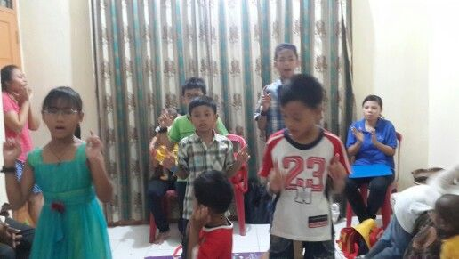 """House of Eaglets"" kids singing and dancing"