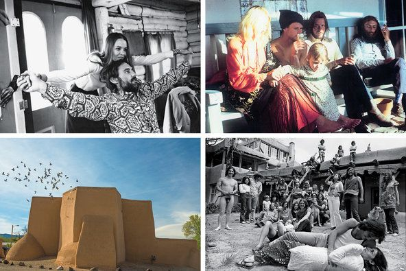 Destiny in Taos by Marin Hopper. In the late 1960s, Dennis Hopper left Hollywood for artistic bohemia in New Mexico. His daughter looks back on a man in search of free expression and a more contemplative way of life. Clockwise from top left: Hopper and Michelle Phillips (Orlando/Globe Photos/Zumapress); Hopper's friends, including Reno Myerson, David Padwa, Tom Law and a young Pilar Law (Lisa Law); a typically wild party at the house (Hopper Art Trust); the Ranchos de Taos church (Lisa…