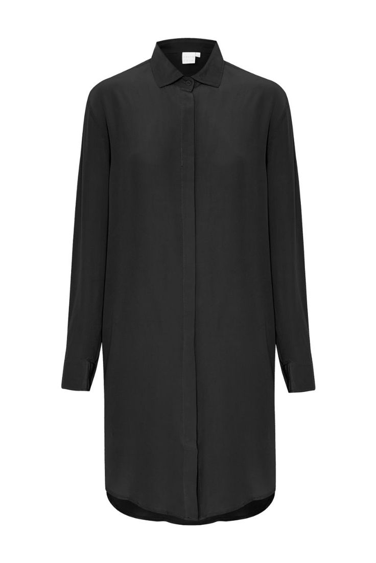 THIRD FORM - Relaxed Shirt Dress In Black