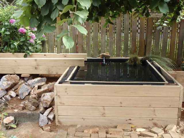 17 best images about garden deck ponds on pinterest for Above ground fish pond filters