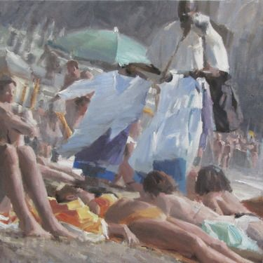 "Saatchi Online Artist Andrea Mancini; Painting, ""#1464 bathers"" #art"