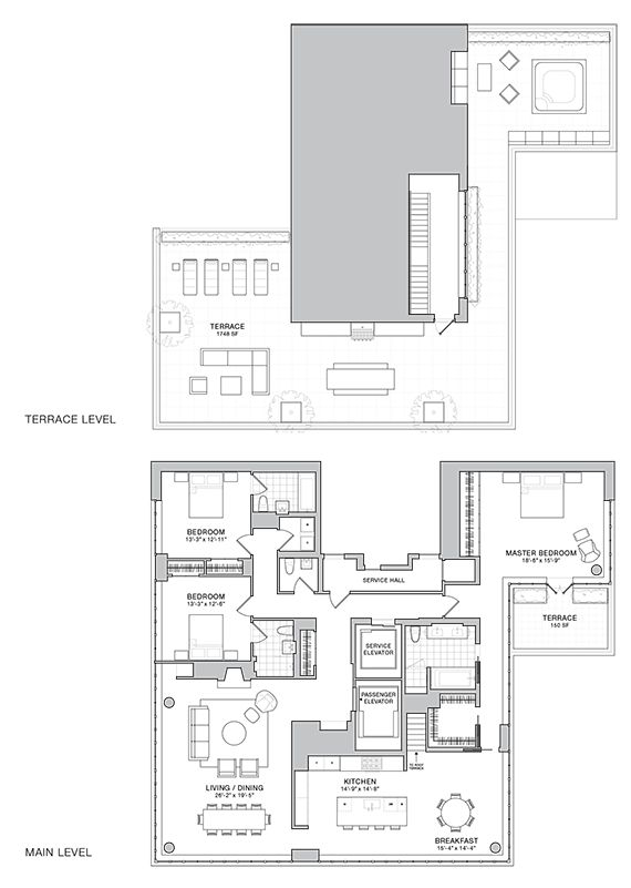 508 West 24th Street Penthouse-A-floor-plan