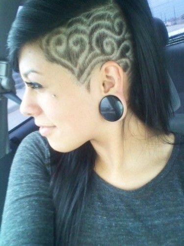 Shaved Hair Designs for Girls | 17 Side Undercut Hairstyle Designs Clipper Patterns