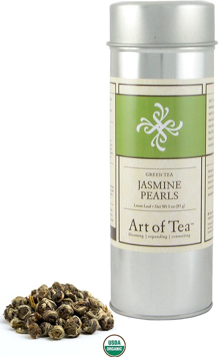 Art of Tea Organic Jasmine Pearls Loose Green Tea - 3oz Tin ** Quickly view this special product, click the image - Fresh Groceries