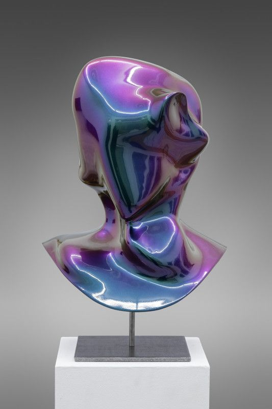 Jon Rafman - New Age Demanded (Furturismo Red to Green), 2013 3D Polyamide print, auto-body lacker 45 x 30 x 34 cm