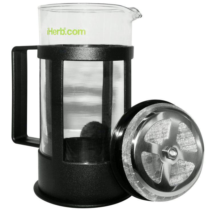Только одну неделю 1 шт. за 1$ !    iHerb Goods, Френч-пресс для кофе и чая, 1 Coffee/Tea Press, 12 fl oz (350 ml)