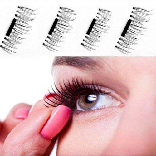lzndeal Faux Cils magnétique 3D Faux Cils Naturel fait à la main Allongement volumineux Vison Authentique Pour maquillage yeux 001 …:…