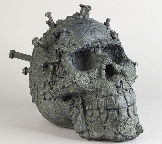 Artist Grayson Perry's Head of a Fallen Giant