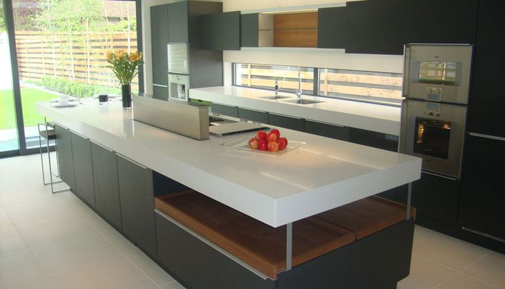 Gallery : Ultra-Modern   Caesarstone  Misty Carrera - 4141    Why am I so attracted to gray cabinets?