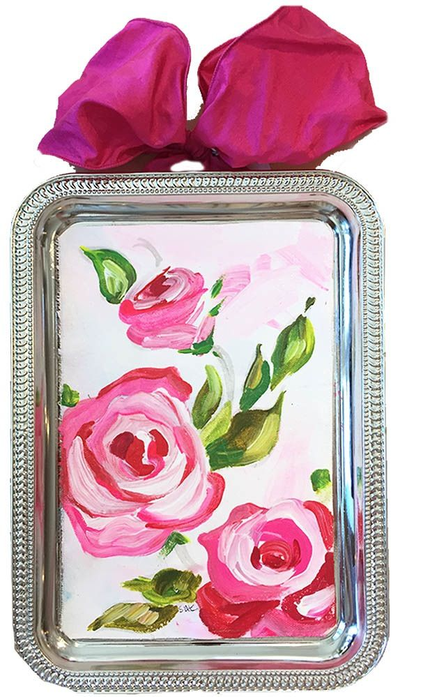 Image of très chic. original art pink spray. drooz.com