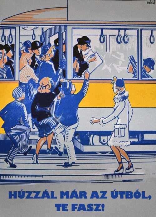 Hungarian streetcar poster