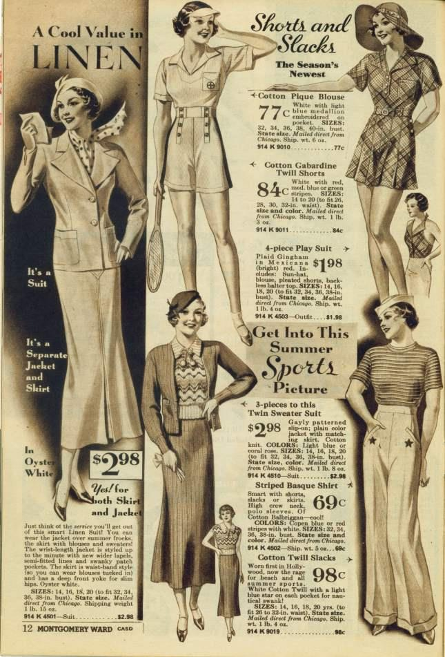 1930s Summer Wear Ad
