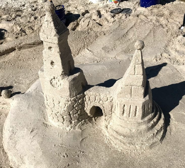 A walk on Naples beach brought us past this sand castle work of art. Want to create your own sand castles?  Get a cool sand castle kit by clicking on the picture.