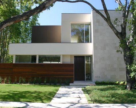 Fachadas de piedra de casas modernas [Fotos de fachadas] | Construye Hogar #fachadasminimalistas #casasmodernas