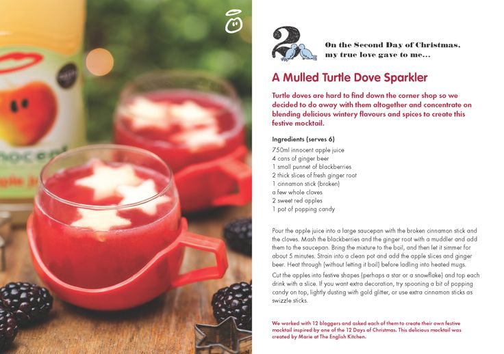 On the Second Day of Christmas, my true love gave to me...A Mulled Turtle Dove Sparkler