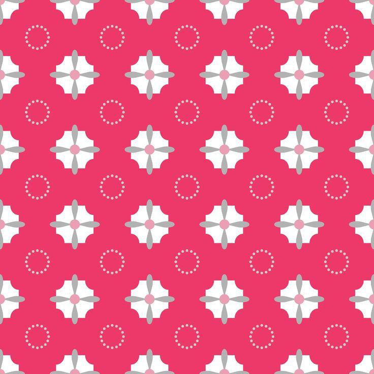 roze stof met geometrische figuren  pink fabric