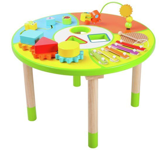 Buy Chad Valley Wooden Activity Table At Argos.co.uk