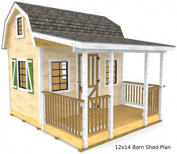 Diy Barn Shed Plans 12x14 16x20 20x24 Two Story Front Porch Paul S Sheds Barns Sheds Diy Shed Plans Small Shed Plans