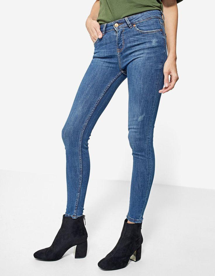 Skinny denim broek - Jeans| Stradivarius Netherlands