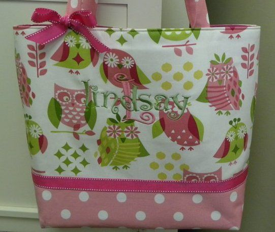 owl diaper bags for girls   Handmade Pink and Green Retro Owl Diaper Bag