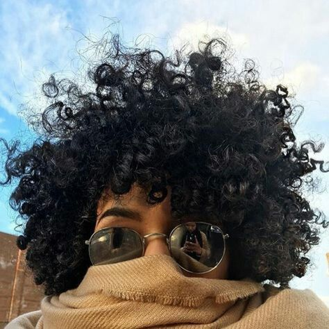 Perm rod natural black hair defined fro style ideas. Profile picture ideas. Sunglasses. Peek-a-boo. #cleverlife