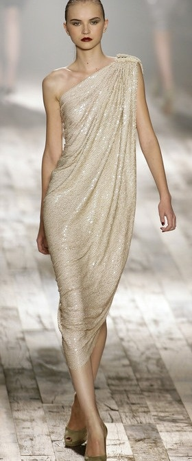 Grecian Style Cocktail Dress by Donna Karen | The House of Beccaria#