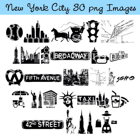 New York City Clip art INSTANT DOWNLOAD Manhattan, Taxi Cab Graphics Clipart Digital Clip Art Scrapbooking Personal and Commercial Use by BridalBust on Etsy https://www.etsy.com/listing/171838946/new-york-city-clip-art-instant-download