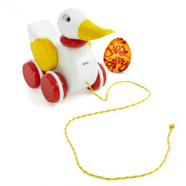 DAY 5 FIND: It's a very cute Brio White Duck Pull-along toy! #easter #eastercompetition #entropytoys #duck