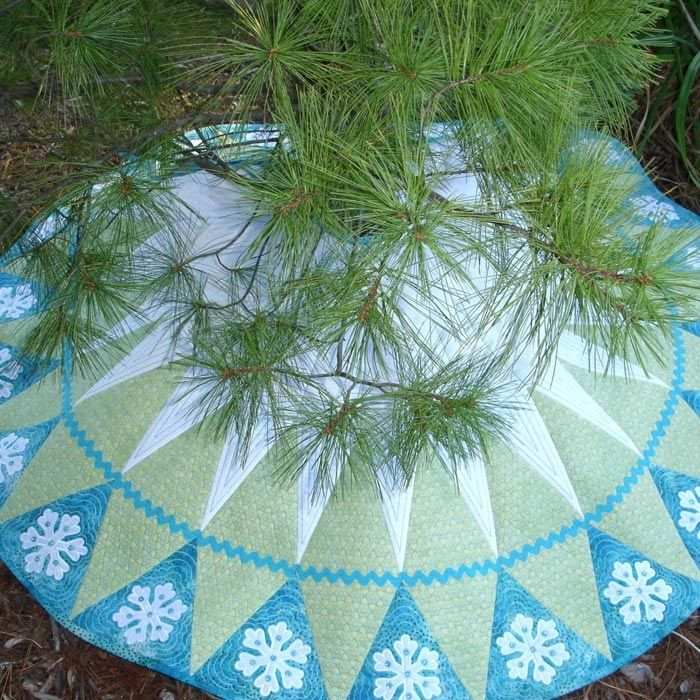 Let It Snow Tree Skirt Christmas SkirtsEmbroidery