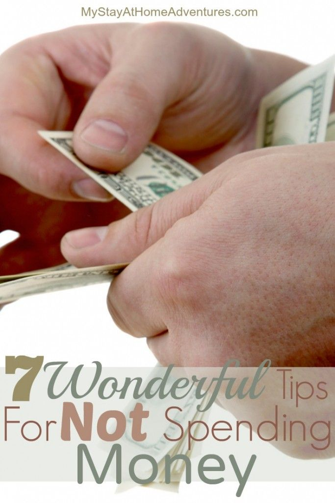 Not only do I have Tips For Not Spending Money, I have 7 Wonderful Tips For Not Spending Money that will motivate you not to spend.