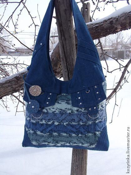 """Cумка-хобо""""Город"""" - синий,сумка женская,сумка-хобо,джинсовая сумка,джинсовый стиль"""