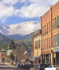 Manitou Springs, Colorado.  been there, love it!  awesome little town at the base of Pikes Peak!!
