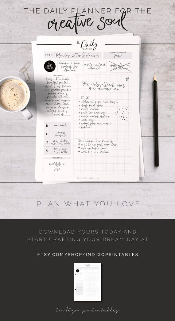 Best 25 daily planner pages ideas on pinterest planner for Daily planner maker