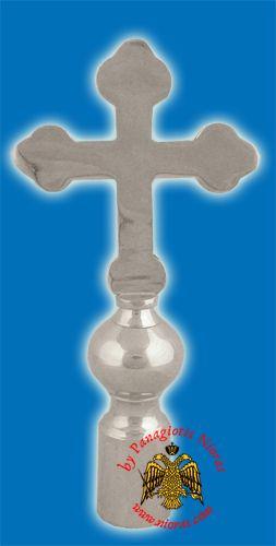 Cross Byzantine Church Classic for Flag Pole - Nickel