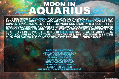 Moon in Aquarius | #mooninaquarius #aquariusmoon #astrology