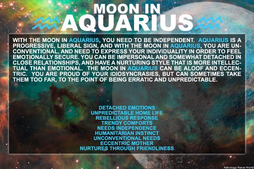 Moon in Aquarius | #mooninaquarius #aquariusmoon #astrology