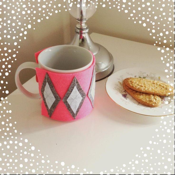 $10 Geometric Neon Mug Cosy by IsabelleMaryCreations on Handmade Australia