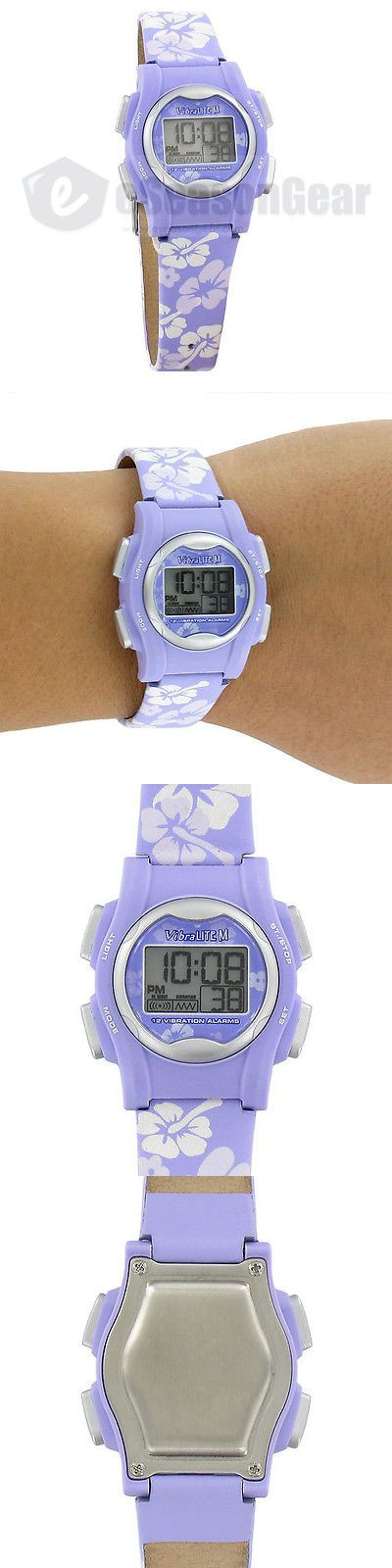 Hearing Assistance: Vibralite Mini 12 Alarm Small Vibrating Watch For Kids Purple Flower Vm-Lpl 22 -> BUY IT NOW ONLY: $43.95 on eBay!