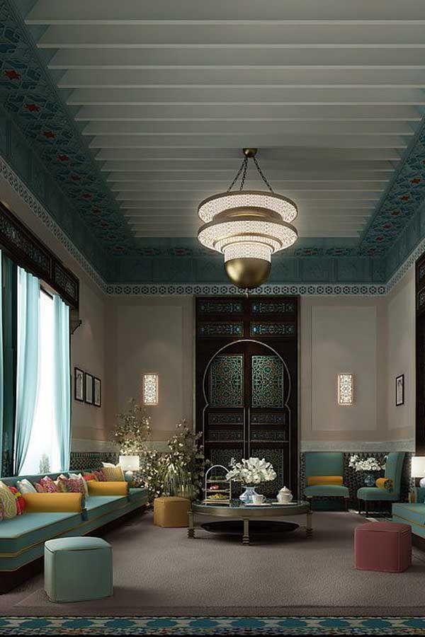 مجالس عربية ومجالس رجال بروح الديكور المغربي الفخم ديكورات أرابيا Interior Design Dubai Decor Interior Design Interior Deisgn