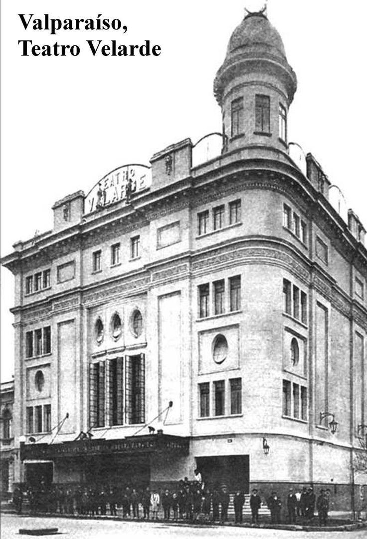 #Valparaíso c.1940 Teatro Velarde. Actual Teatro Municipal