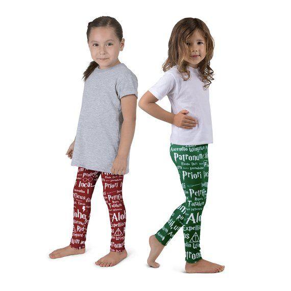 905b31a6258ff Spells Kid's Leggings, Baby Leggings, Harry Potter Leggings, Hogwarts  Leggings, Wizard Leggings, Har