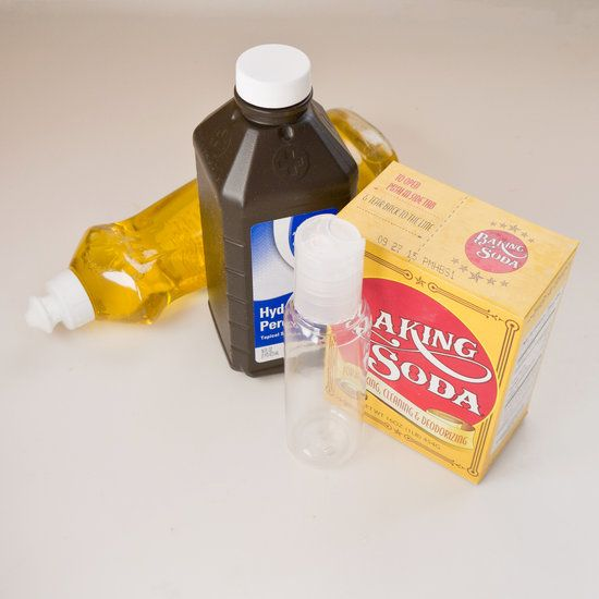 DIY Tub Tile & Grout Cleaner      1/2 cup baking soda      1/4 cup hydrogen peroxide      1 teaspoon liquid dish soap